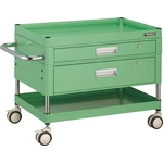 Falcon Wagon Filing Trolley (Urethane Double-Caster Specification / with 1 Deep Drawer & 1 Slim Drawer)