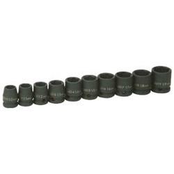 Shallow Socket Set For Impact Wrench (6 Point)