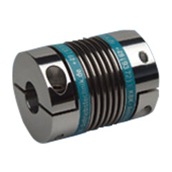 Metal Bellows Couplings with clamp hubs - lightweight KB4AL