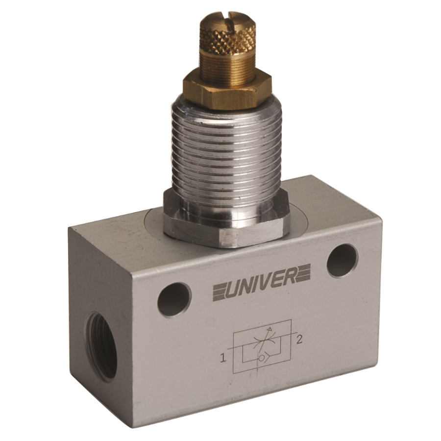One-way flow control valves