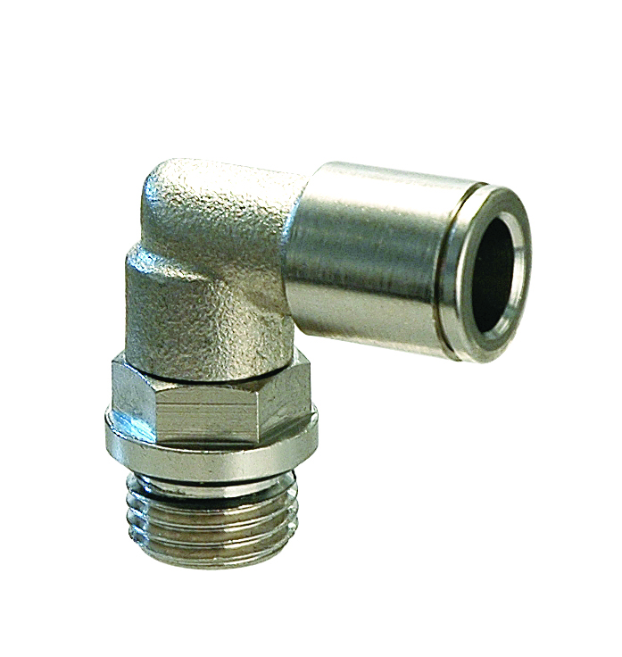 Nickel-plated brass push-in fittings
