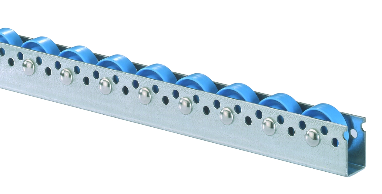 Roller tracks with standard plastic rollers Diameter 48 mm (421)