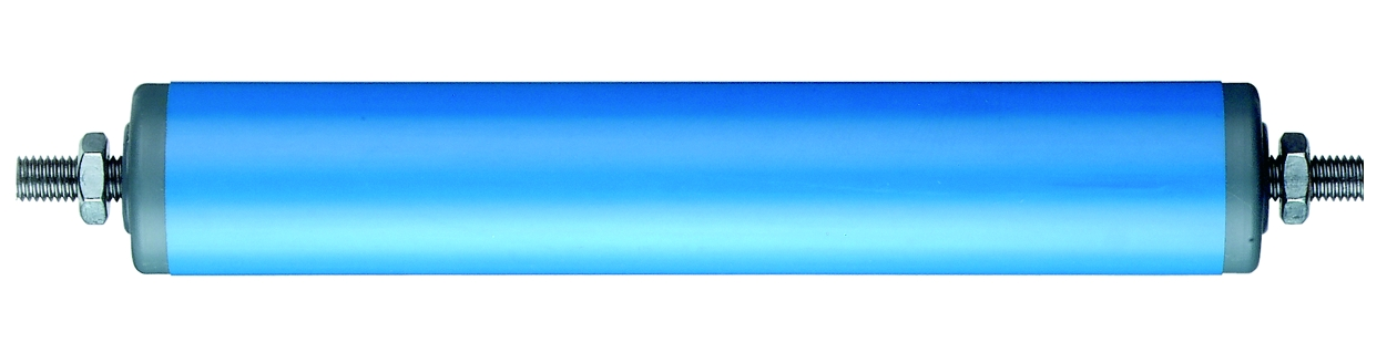 Blue plastic cylinder conveyor rollers (S63)