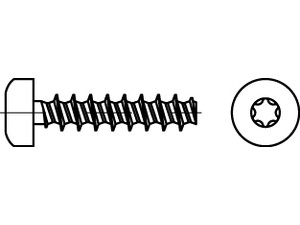 ART 88200 Screw for thermoplastic, hexalobular