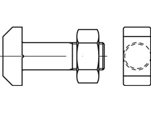 DIN 261 T-head bolts