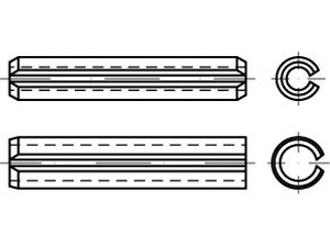 ISO 13337 Spr.type straight pins