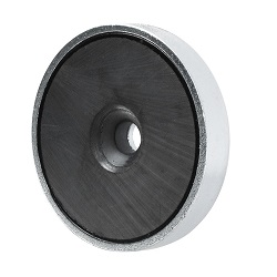 Ferrite Shallow Pot Magnets / Countersunk Mounting