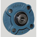 Round Flanged Unit with Spigot Joint and Set Screws, Cylindrical Hole Shape, UCFC