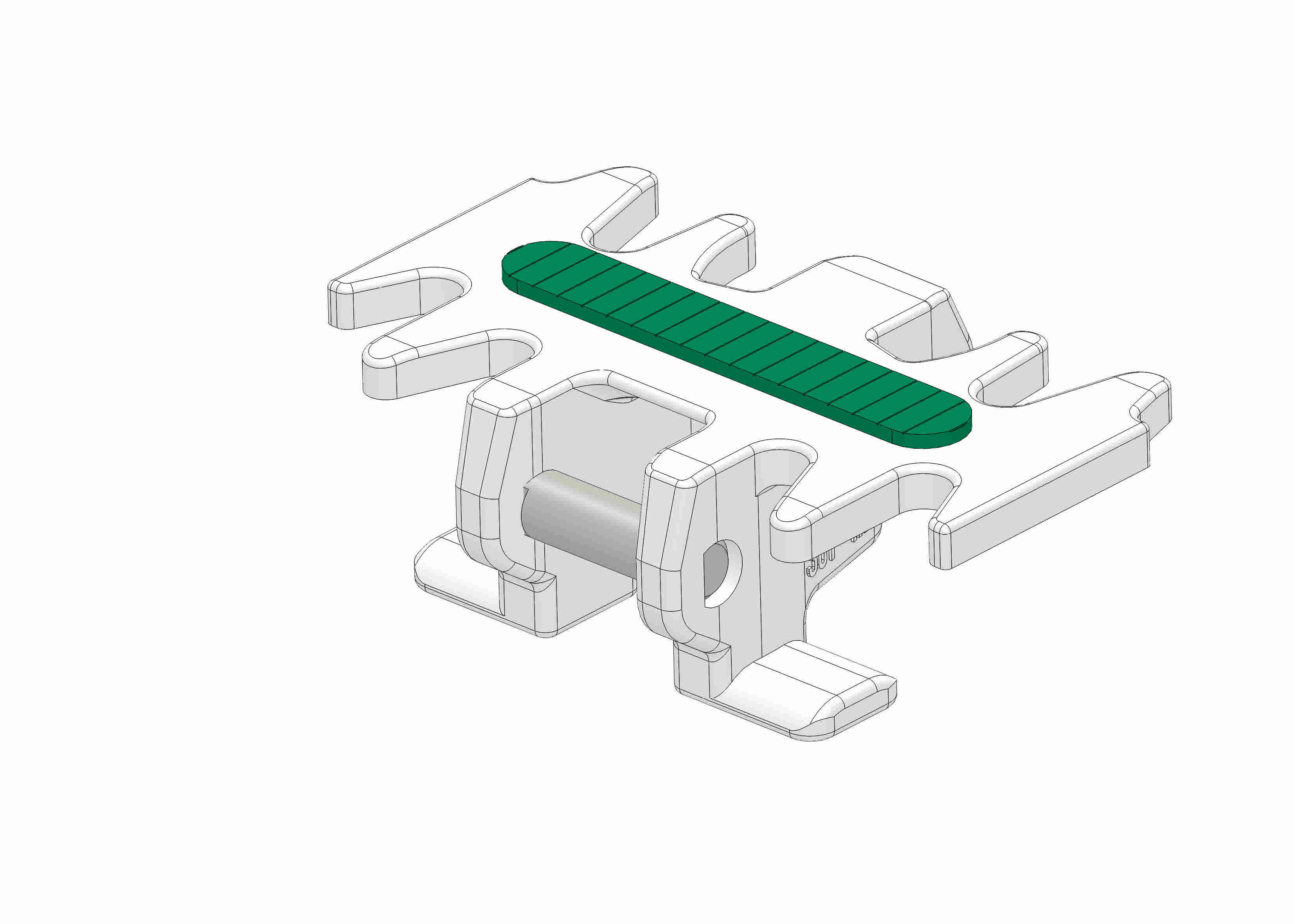 Chain link with friction strip green - 55