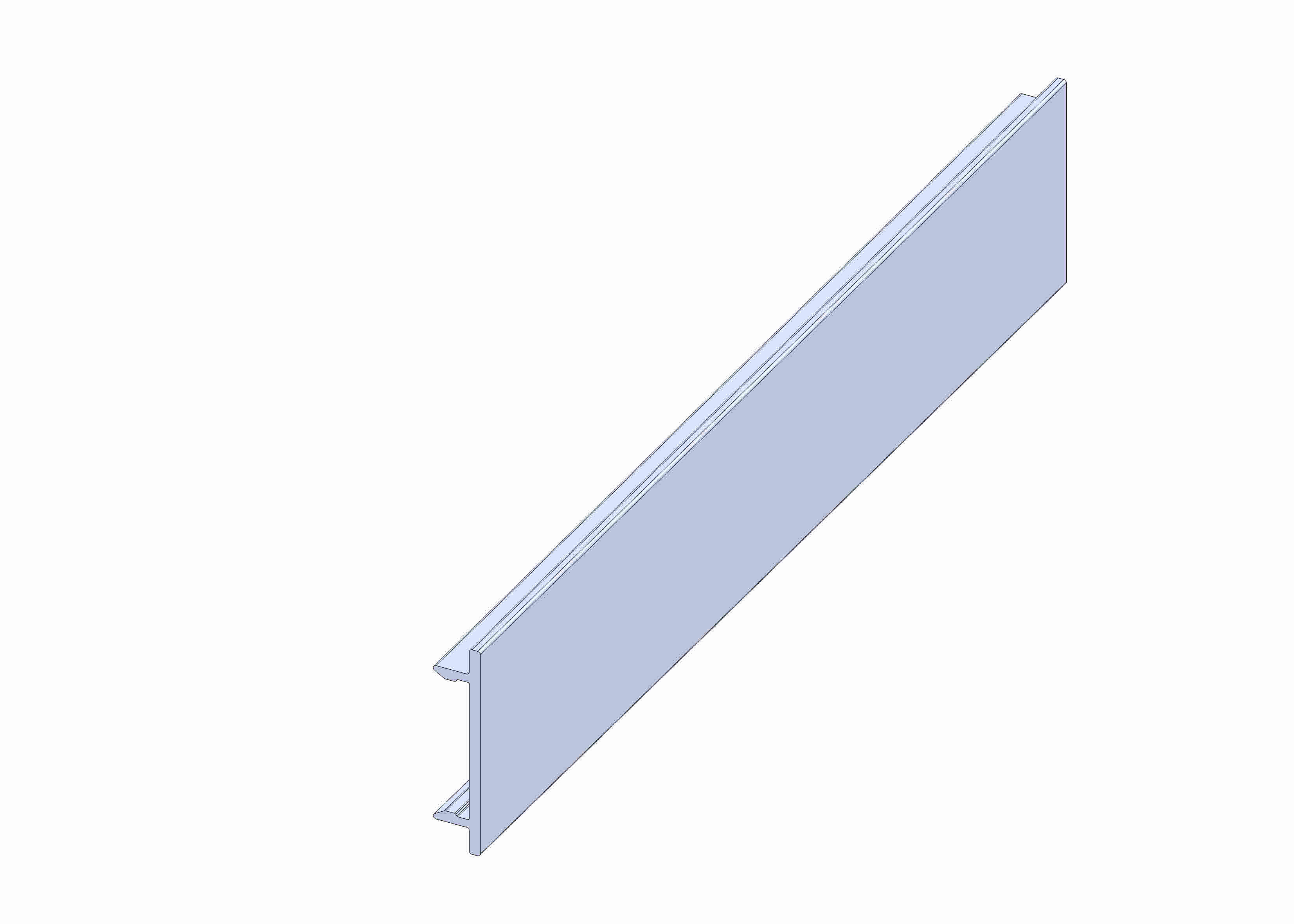Protective strip for guide profile P25 x 11 - 55/85/195