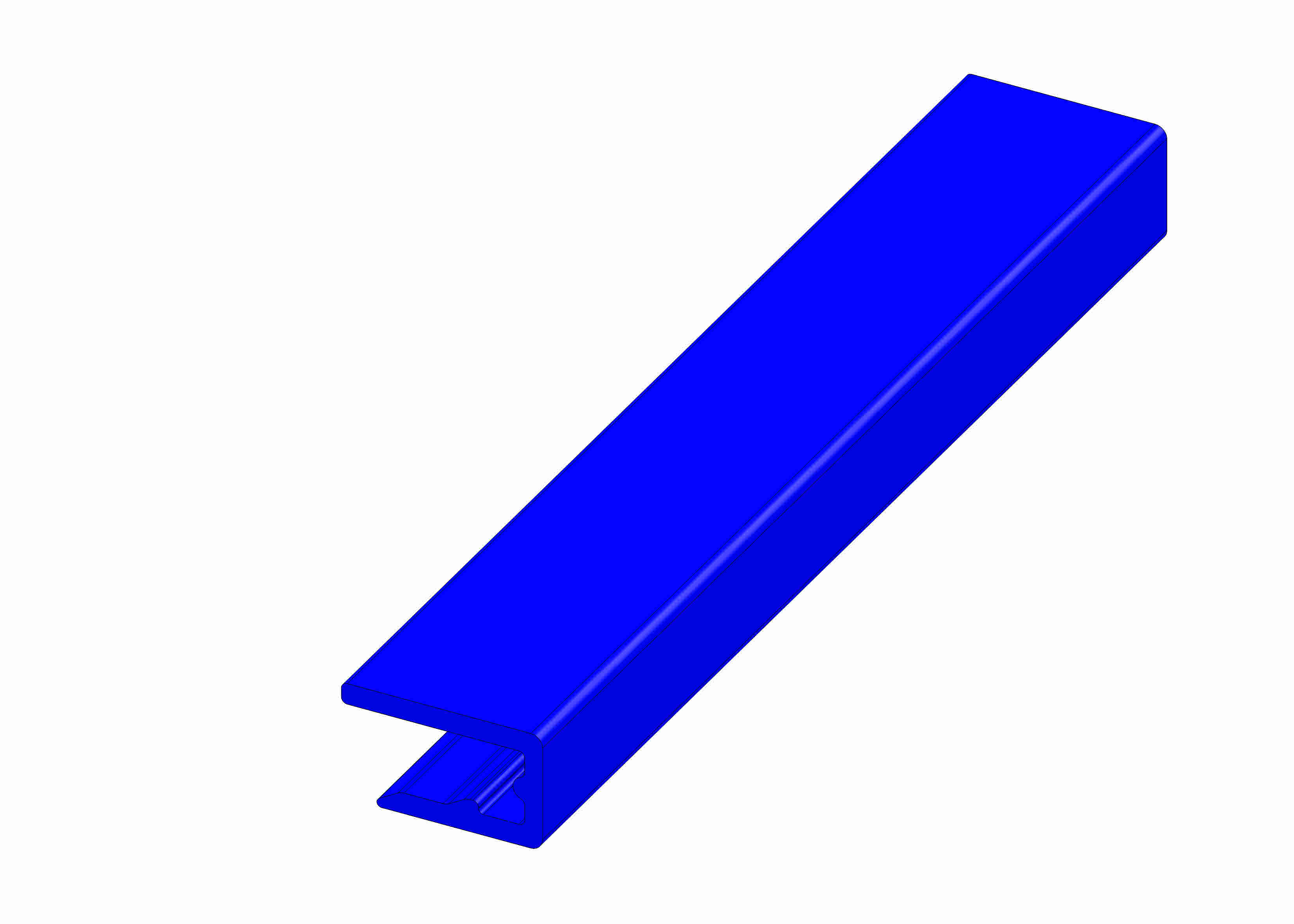 Slide rail blue 10 x 14 B - 55/85/195