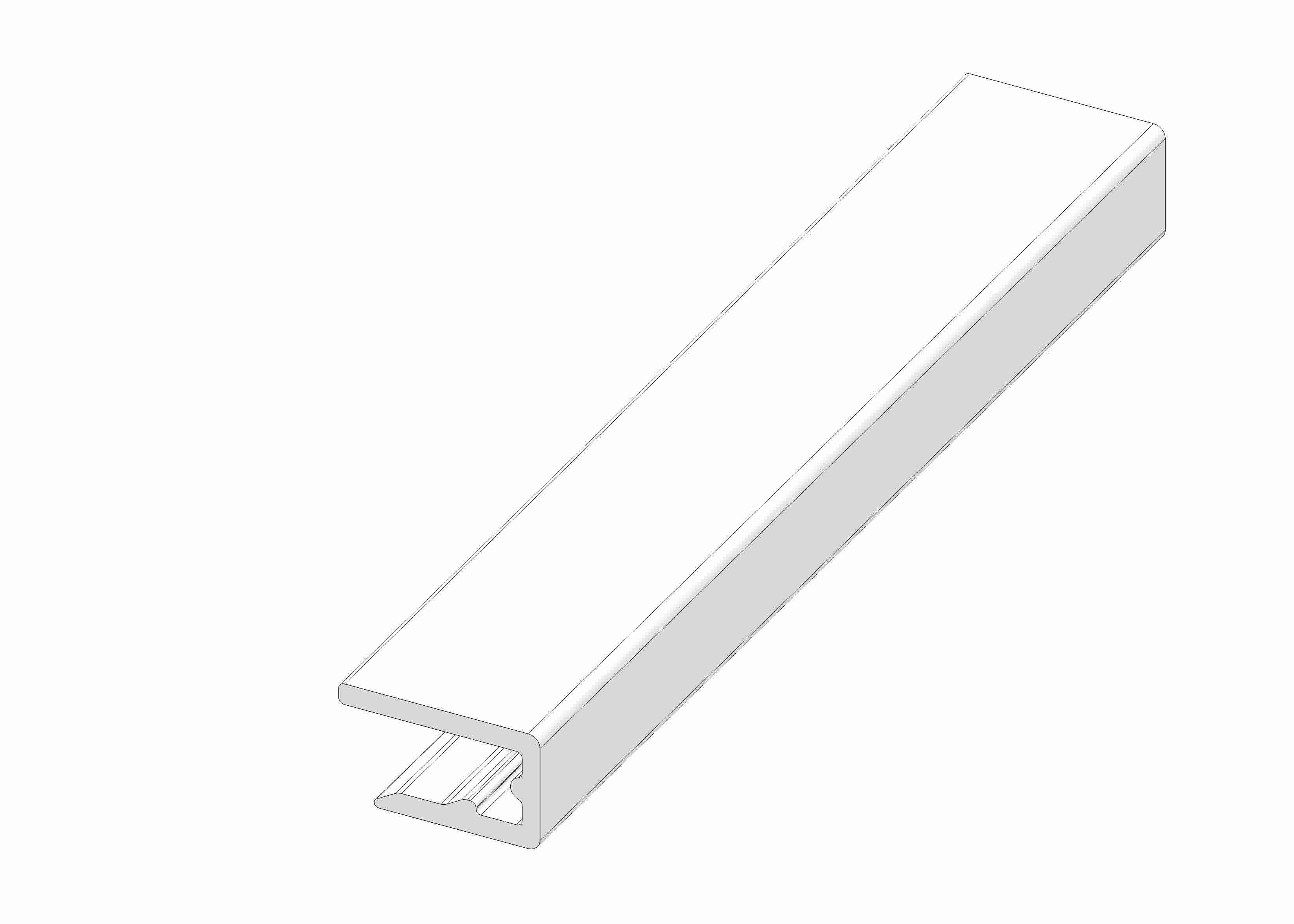 Slide rail white 10 x 14 W - 55/85/195