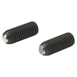 Ball point screws, Steel