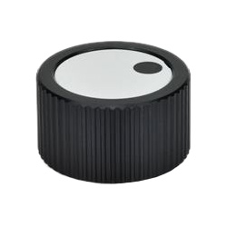 Control knobs, Aluminium, black anodized