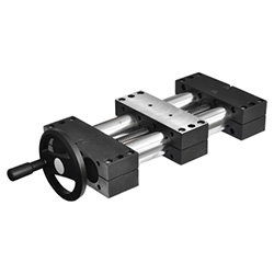 Double tube linear actuators, single slider 491-30-100-R1-SCR