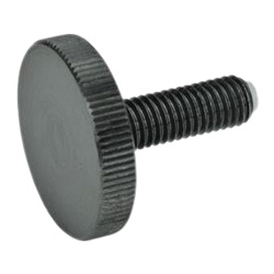 Flat knurled screws with brass / plastic pivot