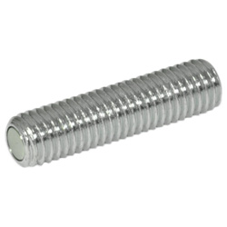 Grub screws with retaining magnet, Steel