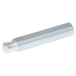 Grub screws with thrust point, zinc plated