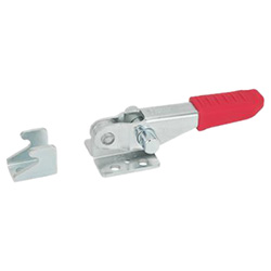 Horizontal latch type toggle clamps for pulling action