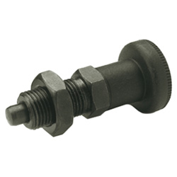 Indexing plunger, Steel / Plastic knob