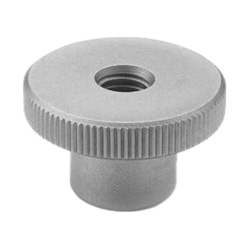 Knurled nuts, Stainless Steel