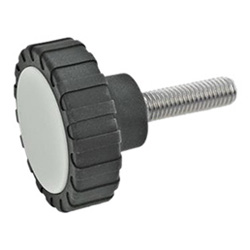 Knurled screws, Plastic
