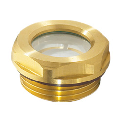 Oil level sight glasses, Brass / Float glass
