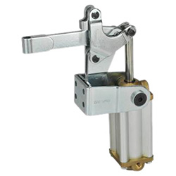 Pneumatic toggle clamps with vertical mounting base