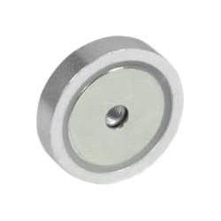 Retaining magnets with female thread, Steel