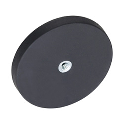 Retaining magnets with female thread, with rubber jacket