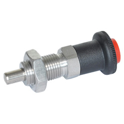 Stainless Steel-Indexing plungers with safety lock, unlocking with push-button