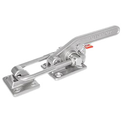 Stainless Steel-Latch type toggle clamps with safety hook, heavy duty type