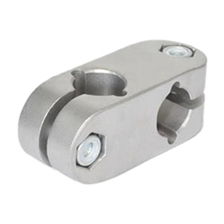 Stainless Steel-Two-way connector clamps