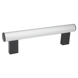 Tubular handles, Tube Aluminium or Stainless Steel 666-30-M6-200-SW