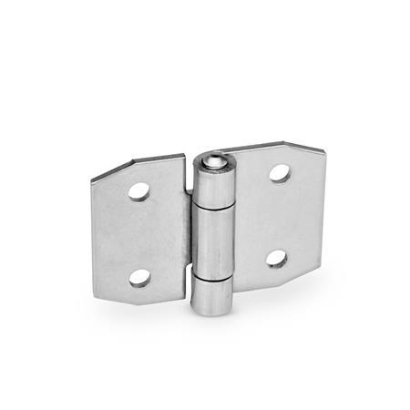 Stainless Steel-Sheet metal hinges, pointed (GN 1364)