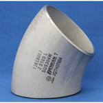 Butt Welding Pipe Fittings, Stainless Steel 45° Elbow