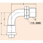 Cross-Linked Polyethylene-Polybutene Pipe-Compatible Press Fitting, JP Joint, 90° Elbow J with J-Male Adapter