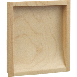 848-W White Wood Square Dust Drop Handle