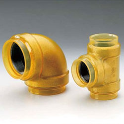 20 K Transparent Fittings with Insulation for HB Gold (HBG) Fire Extinguishing Pipes - Elbow