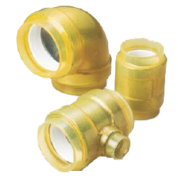 Pre-Seal HB Gold Underground Type (Exterior Transparent Coating for Fire Extinguishing Pipes) Elbow