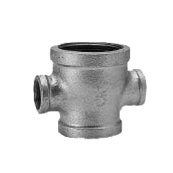 CK Fittings - Screw-in Type Malleable Cast Iron Pipe Fitting - Unequal Diameter Cross