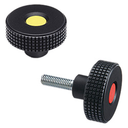 MBT. - Diamond cut knurled knobs -Technopolymer