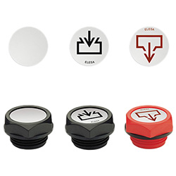 MH. - Labels with marks and symbols -for oil plugs aluminium