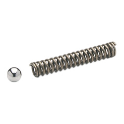 MS. - Ball and spring -for control elements stainless steel