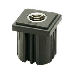 ND.Q - Square end-caps for tubes -heavy loads technopolymer
