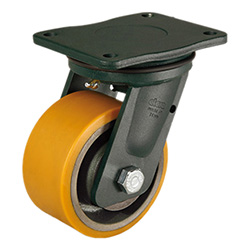 RE.F4-WEH - Mould-on polyurethane wheels -Electro-welded steel bracket for extra-heavy loads