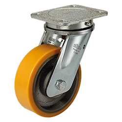 RE.F4-WH - Mould-on polyurethane wheels -Electro-welded steel bracket for heavy loads