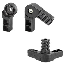 STC-A - Square tube connectors -with adjustable angle technopolymer