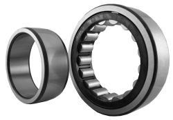 Cylindrical roller bearings NU2..-E, main dimensions to DIN 5412-1, non-locating bearing, separable, with cage