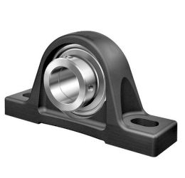 Plummer block housing units PASE, cast iron housing, radial insert ball bearing with eccentric locking collar, P seals